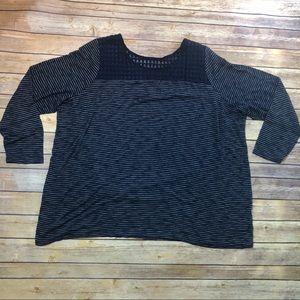 Lane Bryant Striped Long Sleeve Shirt Size 26/28